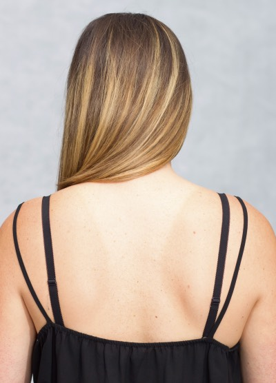 Messy black straps