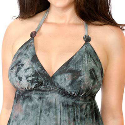 Brilliant Midnight Black on Halter Top